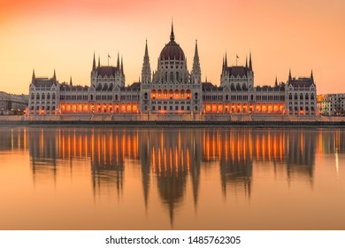 Hungarian Parliament in Budapest, hungary. famous landmark, historical building.