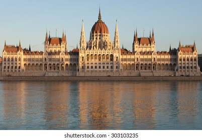 The Hungarian Parliament Building, beside the Danube River, in Budapest, Hungary
