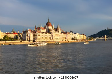 Hungarian Parliament Building in Budapest , Hungary