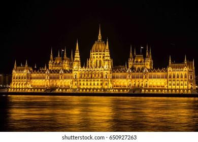 Hungarian Parliament Building Night