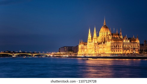 Hungarian Parliament in dusk