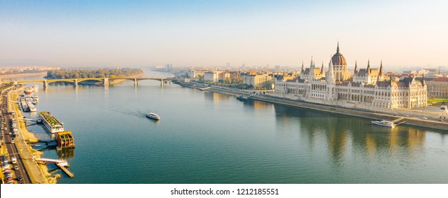 The Hungarian Parliament with the river Danube, Budapest