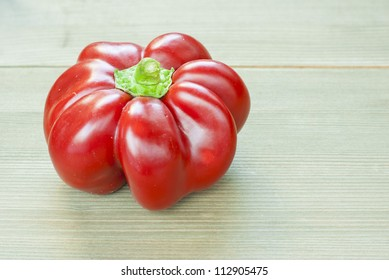 hungarian sweet pepper, wooden table background
