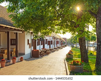 VILLÁNY, HUNGARY - 25 MAY, 2019: Traditional wine cellars in Villány, Hungary on 25 May, 2019.