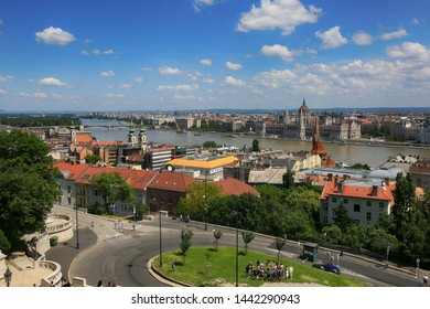 Hungary, Budapest, June 3, 2019. Beautiful view of the city of Budapest on a sunny summer day