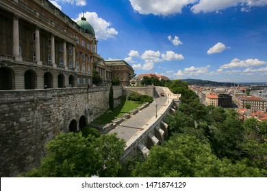 Hungary, Budapest, June 3, 2019. View of Buda Castle Royal Palace on Hill in Budapest, Europe architecture famous landmark historical part city