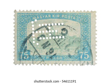 HUNGARY - CIRCA 1924: A stamp printed in Hungary showing Budapest, circa 1924