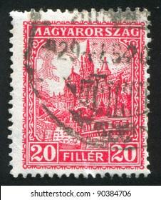 HUNGARY - CIRCA 1925: stamp printed by Hungary, shows Antal Szerb, circa 1925