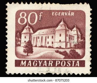 HUNGARY - CIRCA 1960: A Stamp printed in Hungary shows castel Egervar, circa 1960