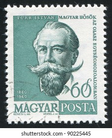 HUNGARY - CIRCA 1960: stamp printed by Hungary, shows Istvan Turr, circa 1960