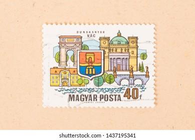 HUNGARY  - CIRCA 1970: A stamp printed in Hungary shows Dunakanyar Vac, circa 1970