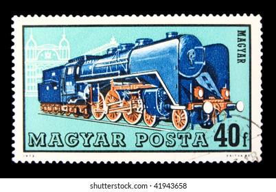 HUNGARY - CIRCA 1972: A stamp printed in Hungary showing locomotive circa 1972