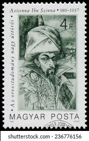 HUNGARY - CIRCA 1987: Stamp printed in Hungary shows Medical Pioneers - Avicenna Ibn Szinna (980-1037), circa 1987