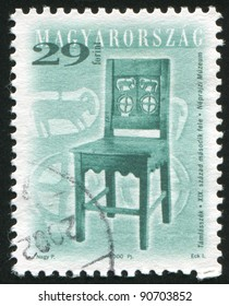 HUNGARY - CIRCA 2000: A stamp printed by Hungary, shows antique chair, circa 2000