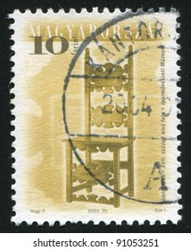 HUNGARY - CIRCA 2001: stamp printed by Hungary, shows antique chair, circa 2001