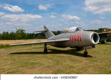 Hungary Kiskunlachaza Jun 06, 2019. Museum of Airforce, MIG 15 multipurpose fighter jet.   MiG-15.
