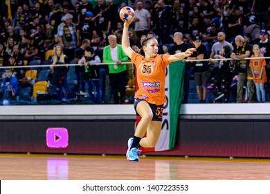 Siófok, Hungary - May 11,2019:The handball player  WALD Kira during the game between Siófok KC vs Team Esbjerg for 2018/2019 EHF Cup - Final.