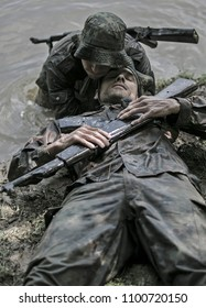 Hungary, Orfu - May 02, 2018: Elite Challenge is a program designed both for civilians and professionals who wish to try out what it feels like to get through Special Forces selection