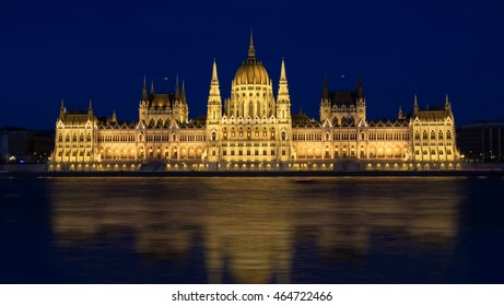 Hungary Parliament building in Budapest at dusk