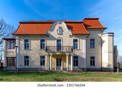 Hungary - Ruins of  Country / Hunting chateau  from the XVIII century in fall setting.
