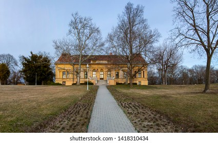 Hungary Velence - Ruins of Country / Hunting chateau from the XVIII century in fall setting.