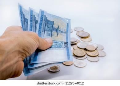 Hungaryan forint isolated white background
