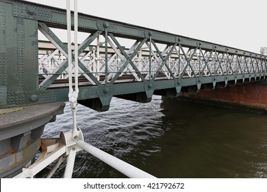 Hungerford railway bridge in London