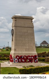 Hunstanton, Norfolk, England, UK, April 24, 2019: War Memorial, erected in 1921, and dedicated to the fallen of the First and Second World Wars