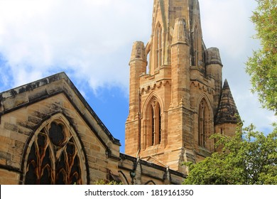 The Hunter Baillie Memorial Presbyterian Church is a heritage listed church opened in 1889. An example of sandstone Gothic Revival architecture