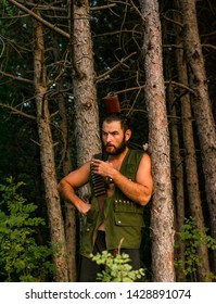 hunter in the forest, dangerous, perilous
