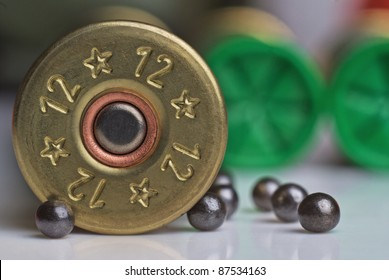hunting cartridge with shot