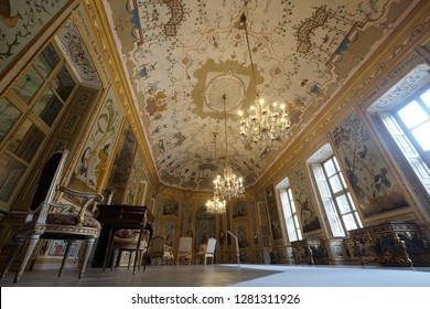 The hunting residence of Stupinigi,game room King's apartament, Nichelino,Turin,Piedmont,Italy november 2017