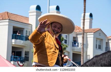 Huntington Beach, CA / USA - July 4, 2018: Huntington Beach 4th of July parade