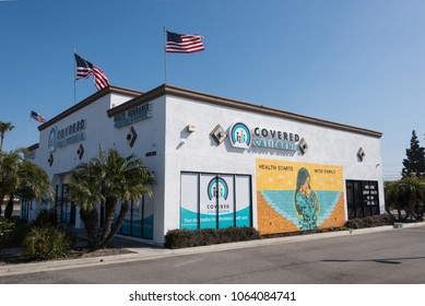 HUNTINGTON BEACH, CA/U.S.A. - MARCH 29, 2018: A photo of the Covered California building, the State's Affordable Care Act exchange.  Premiums are expected to increase up to 35% in California in 2019.