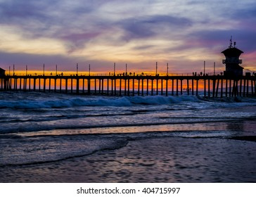 Huntington Beach Pier at Sunset
