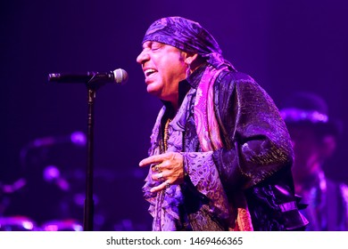 HUNTINGTON, NY - JUL 18: Steven Van Zandt of Little Steven and the Disciples of Soul perform in concert on July 18, 2019 at the Paramount in Huntington New York.