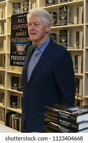 "HUNTINGTON, NY - JUN 28: Former President Bill Clinton attends the book signing of ""The President is Missing"" at Book Revue on June 28, 2018 in Huntington, New York."