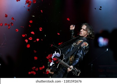 HUNTINGTON, NY - SEPT 13: Singer Rick Springfield performs in concert at the Paramount on September 13, 2018 in Huntington, New York.