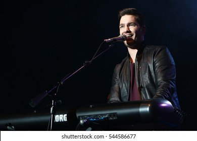 HUNTINGTON, NY-DEC 1: Singer Andy Grammer performs in concert at The Paramount on December 1, 2016 in Huntington, New York.
