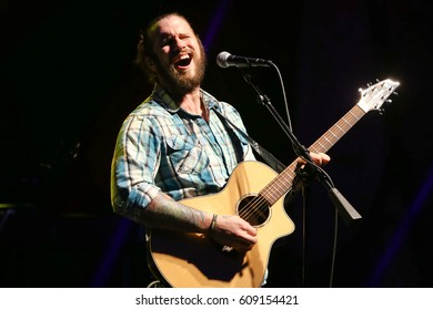 HUNTINGTON, NY-MAR 25: Singer Brian Ripps performs onstage at the Paramount on March 25, 2017 in Huntington, New York.