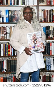 """HUNTINGTON-OCT 11: Whoopi Goldberg signs copies of her book """"The Unqualified Hostess: I do it my way so you can too!"""" at Book Revue on October 11, 2019 in Huntington, New York."""