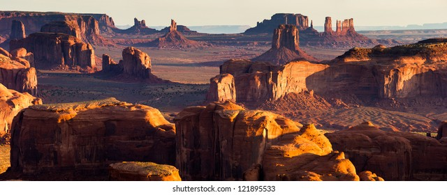 Hunt's Mesa, Monument Valley Panorama