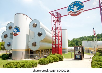 HUNTSVILLE, AL. - JULY 3:Entrance to U.S. Space Camp in Huntsville, AL, on July 3, 2011. More than 500,000 students have attended the camp since 1982.