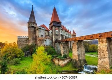 Hunyad Castle / Corvin's Castle in Hunedoara, Romania.