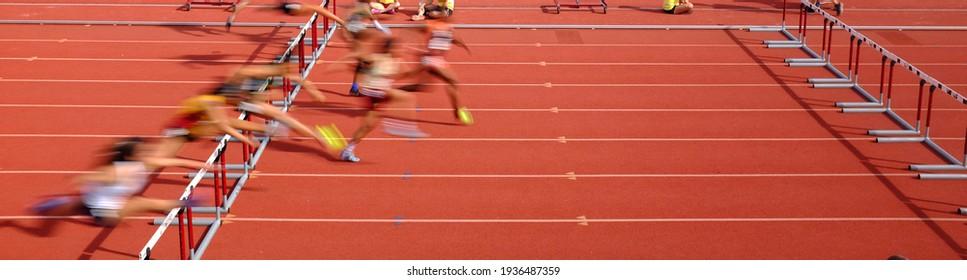 Hurdle Panorama Track and Field Running