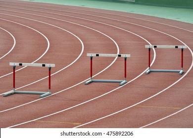 Hurdle race nobody on it