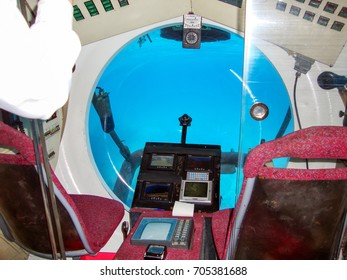 HURGHADA - EGYPT - DECEMBER 23, 2009: Hurghada Sindbad U-Boat Submarine tour under water of Red Sea