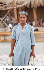 HURGHADA, EGYPT - September 29: Unidentified bedouin in the desert near Hurghada, September 29, 2011.