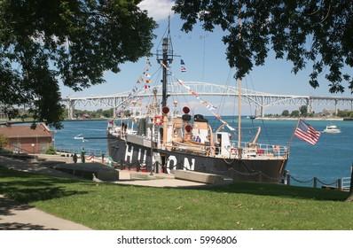 Huron lightship museum in Port Huron, Michigan
