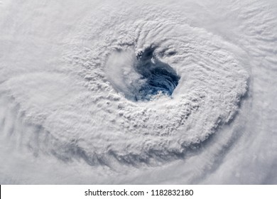 Hurricane Florence eye as viewed from the International Space Station. Elements of this image furnished by NASA.